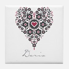 Love Doris Tile Coaster