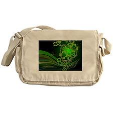 Heart And Shamrocks Messenger Bag