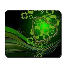 Heart And Shamrocks Mousepad