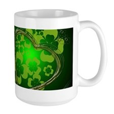 Heart And Shamrocks Mug