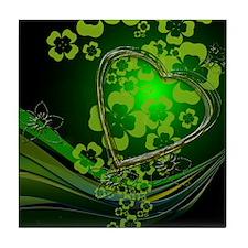 Heart And Shamrocks Tile Coaster