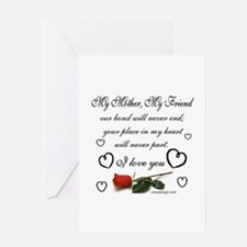 mymothermyfriendroseTILES Greeting Cards