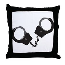 Handcuffs Throw Pillow