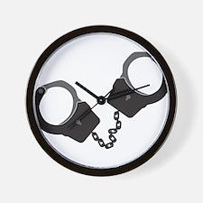 Handcuffs Wall Clock