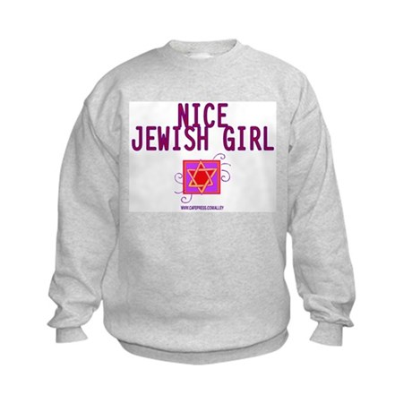 Nice Jewish Girl Kids Sweatshirt