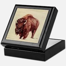 Cute Buffalo Keepsake Box