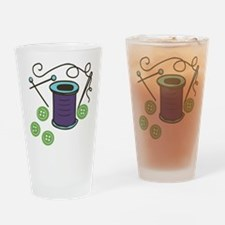 Buttons Drinking Glass