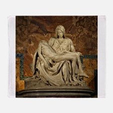 Michelangelos Pieta Throw Blanket