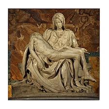 Michelangelos Pieta Tile Coaster