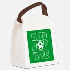 Cool Soccer player design Canvas Lunch Bag