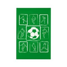 Fun Soccer players design Rectangle Magnet