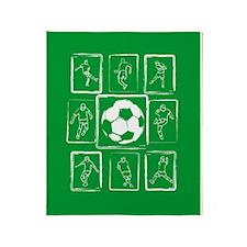 Fun Soccer players design Throw Blanket