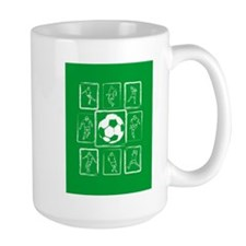Fun Soccer players design Mug