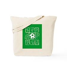 Fun Soccer players design Tote Bag