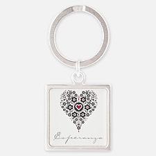Love Esperanza Square Keychain
