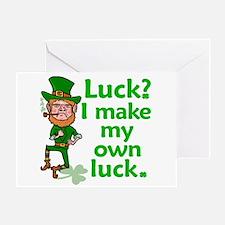 Funny Angry Lucky Irish Leprechaun Greeting Card