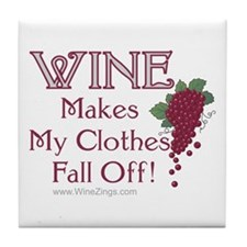 Wine Clothes - Tile Coaster