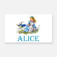 ALICE IN WONDERLAND - BLUE Rectangle Car Magnet