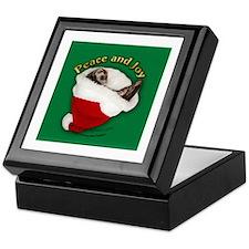Ferret Santa Hat Keepsake Box
