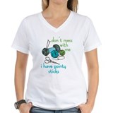 Knitting Womens V-Neck T-shirts