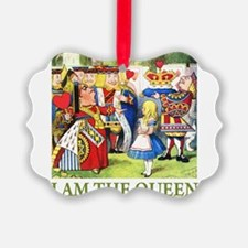 ALICE - I AM THE QUEEN_GREEN.png Ornament