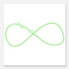 Colorguard Infinity in Neon Green Square Car Magne