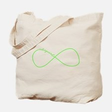 Colorguard Infinity in Neon Green Tote Bag