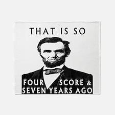 Abe Lincoln Throw Blanket