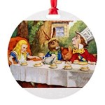 14x10_Mad Hatter_ALICE_tenniel.png Round Ornament