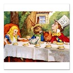 14x10_Mad Hatter_ALICE_tenniel.png Square Car Magn