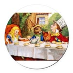 14x10_Mad Hatter_ALICE_tenniel.png Round Car Magne