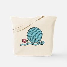 Blue Yarn Tote Bag