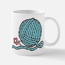 Blue Yarn Mug