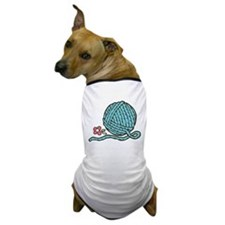 Blue Yarn Dog T-Shirt