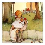 Alice in Wonderland011- SQ.png Square Car Magnet 3