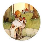 Alice in Wonderland011- SQ.png Round Car Magnet