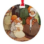 Alice in Wonderland010 SQ.png Round Ornament