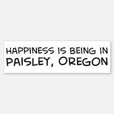 Paisley - Happiness Bumper Bumper Bumper Sticker