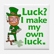 Funny Angry Lucky Irish Leprechaun Tile Coaster