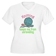 Keeps Me From Unraveling Plus Size T-Shirt