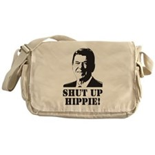 "Reagan says ""Shut Up Hippie!"" Messenger Bag"
