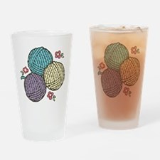 Yarn Trio Drinking Glass