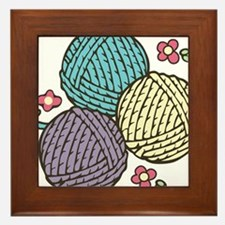 Yarn Trio Framed Tile