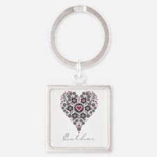 Love Esther Square Keychain
