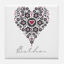 Love Esther Tile Coaster