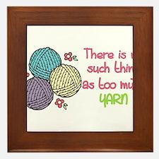 Too Much Yarn Framed Tile