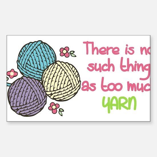 Too Much Yarn Decal