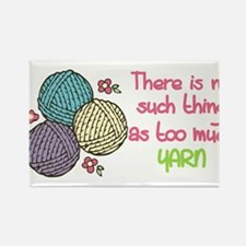 Too Much Yarn Rectangle Magnet