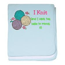 I Knit baby blanket
