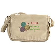 I Knit Messenger Bag
